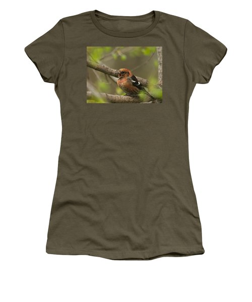 White-winged Crossbill Women's T-Shirt (Junior Cut) by James Peterson