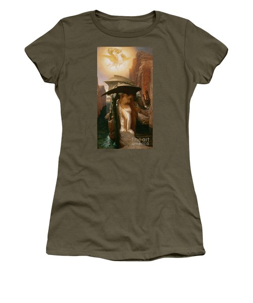 Perseus And Andromeda Women's T-Shirt (Junior Cut) by Frederic Leighton