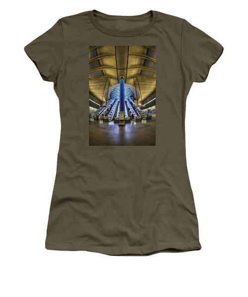 Alien Landing Women's T-Shirt (Junior Cut) by Evelina Kremsdorf