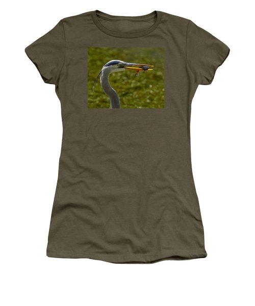 Fishing For A Living Women's T-Shirt (Junior Cut) by Tony Beck
