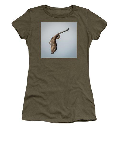 Osprey In Flight Women's T-Shirt (Junior Cut) by Paul Freidlund