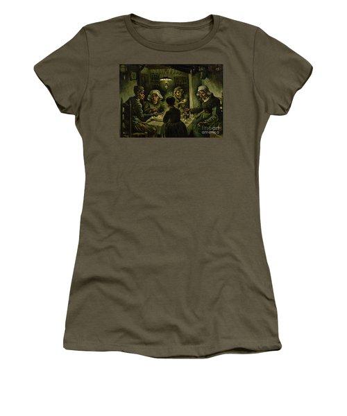 The Potato Eaters, 1885 Women's T-Shirt (Junior Cut) by Vincent Van Gogh