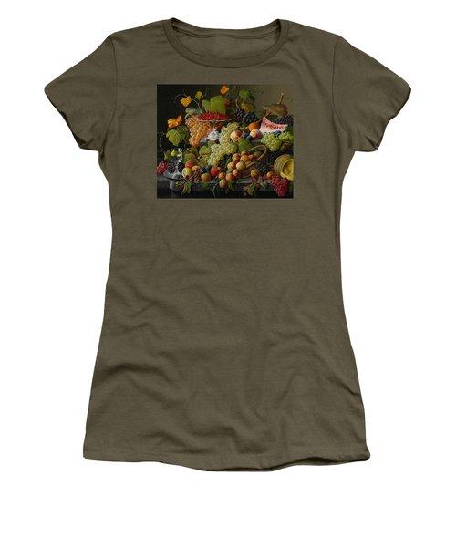Abundant Fruit Women's T-Shirt (Junior Cut) by Severin Roesen