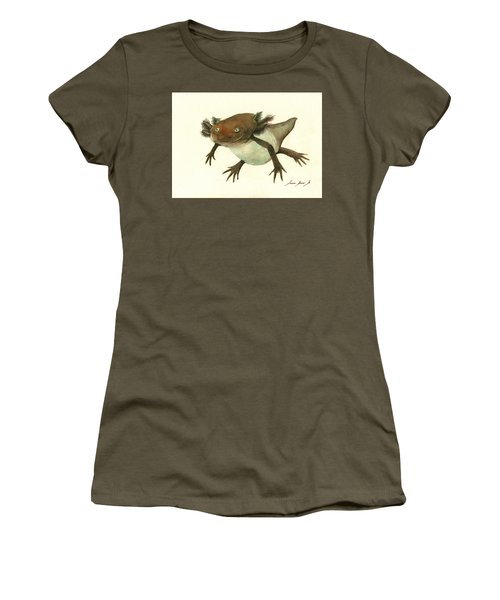 Axolotl Women's T-Shirt (Junior Cut) by Juan Bosco