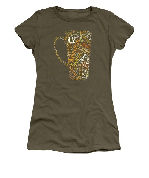 Beer Lovers Tee Women's T-Shirt (Junior Cut) by Edward Fielding