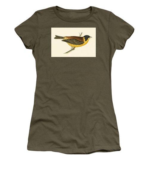 Black Headed Bunting Women's T-Shirt (Junior Cut) by English School