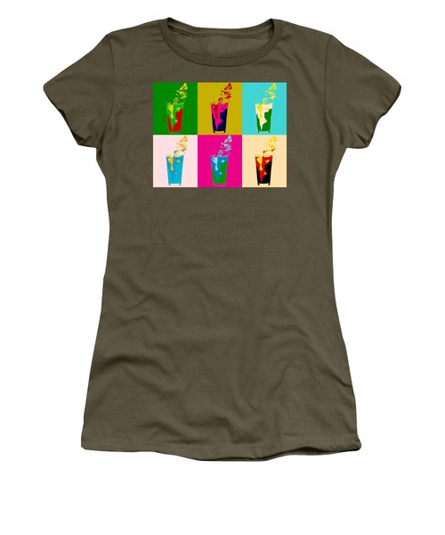Bloody Mary Pop Art Panels Women's T-Shirt (Junior Cut) by Dan Sproul