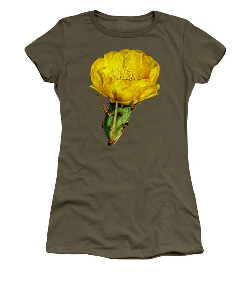 Cactus Flower Op26 Women's T-Shirt (Junior Cut) by Mark Myhaver