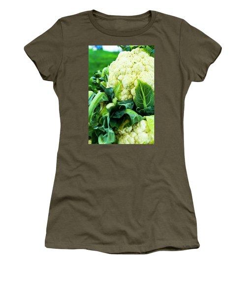 Cauliflower Head Women's T-Shirt (Junior Cut) by Teri Virbickis