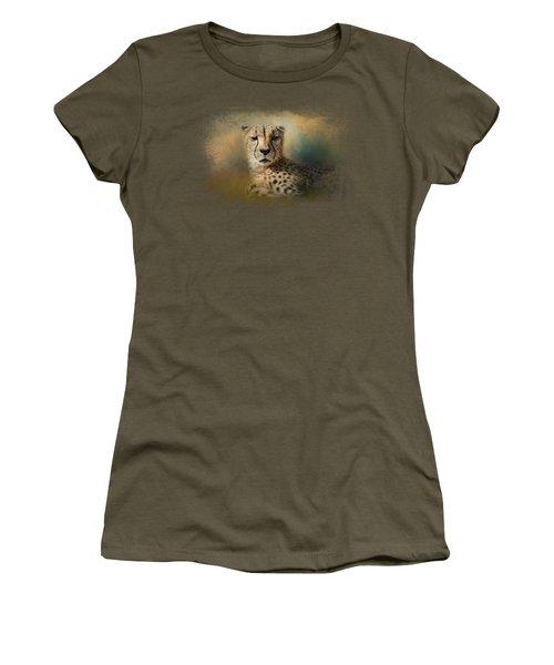 Cheetah Enjoying A Summer Day Women's T-Shirt (Junior Cut) by Jai Johnson