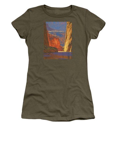 Deep In The Canyon Women's T-Shirt (Junior Cut) by Cody DeLong