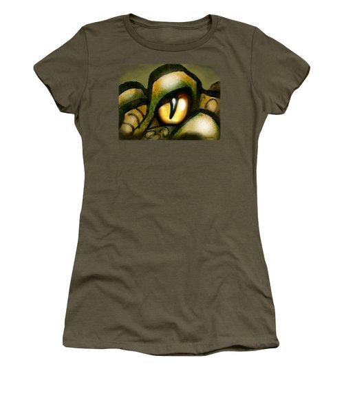 Dragon Eye Women's T-Shirt (Junior Cut) by Kevin Middleton