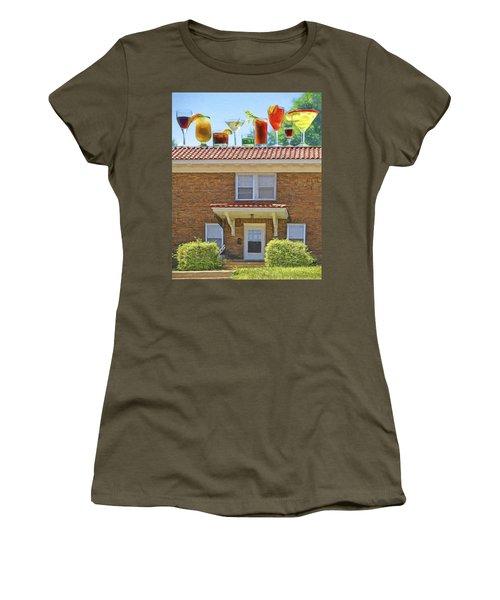 Drinks On The House Women's T-Shirt (Junior Cut) by Nikolyn McDonald