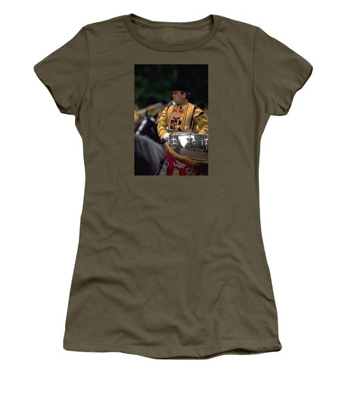 Women's T-Shirt (Junior Cut) featuring the photograph Drum Horse At Trooping The Colour by Travel Pics