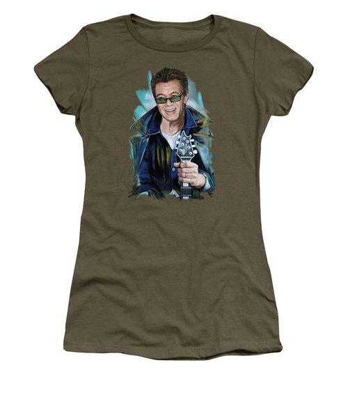Eddie Van Halen Women's T-Shirt (Junior Cut) by Melanie D