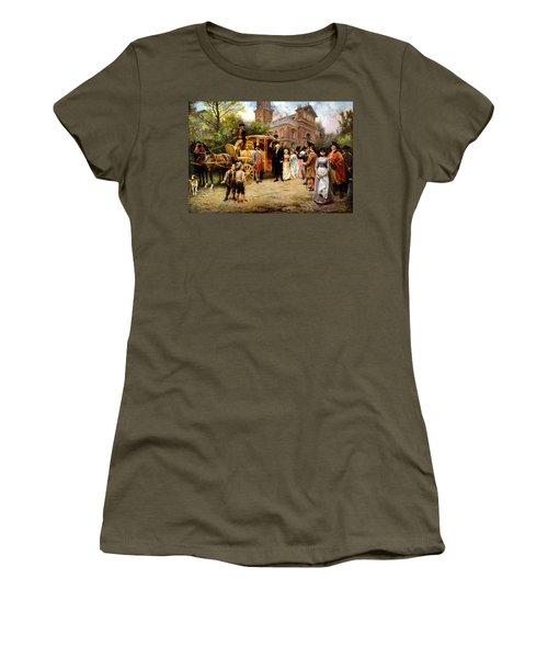 George Washington Arriving At Christ Church Women's T-Shirt (Junior Cut) by War Is Hell Store