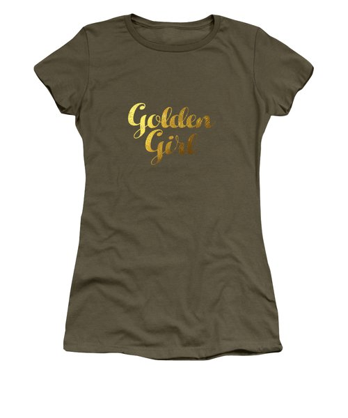 Golden Girl Typography Women's T-Shirt (Junior Cut) by BONB Creative