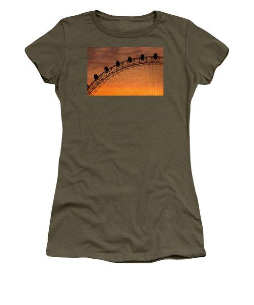 London Eye Sunset Women's T-Shirt (Junior Cut) by Martin Newman