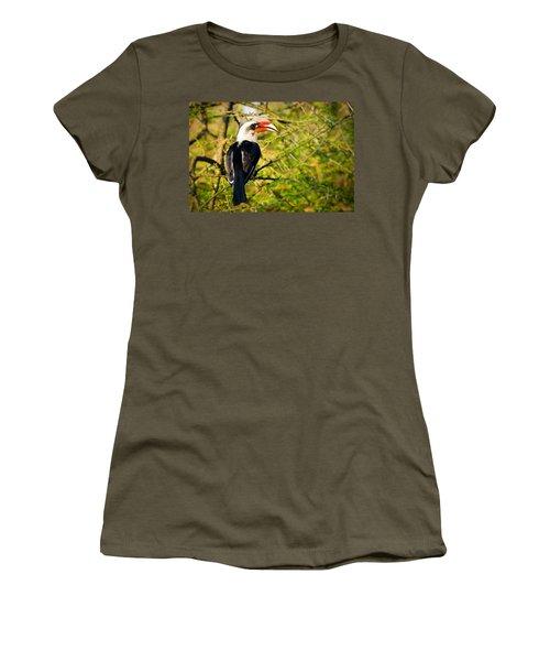 Male Von Der Decken's Hornbill Women's T-Shirt (Junior Cut) by Adam Romanowicz