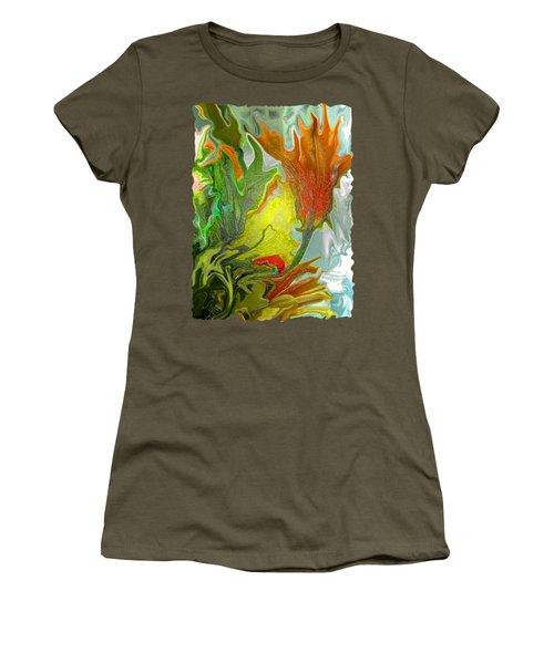 Orange Tulip Women's T-Shirt (Junior Cut) by Kathy Moll