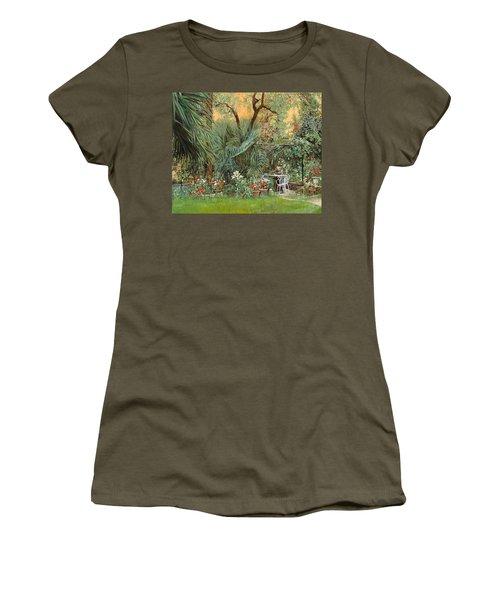 Our Little Garden Women's T-Shirt (Junior Cut) by Guido Borelli