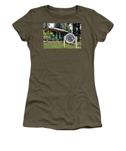 Pele's Lanai Style Women's T-Shirt (Junior Cut) by DJ Florek