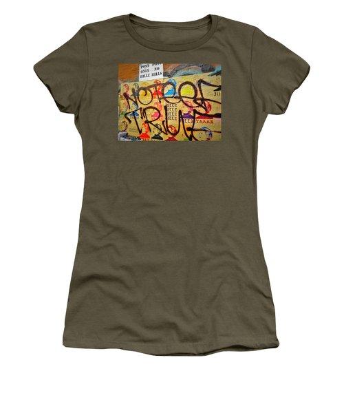 Post No Bills Hillary Clinton  Women's T-Shirt (Junior Cut) by Funkpix Photo Hunter