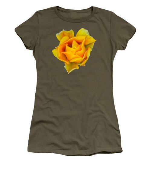 Prickly Pear Flower H11 Women's T-Shirt (Junior Cut) by Mark Myhaver