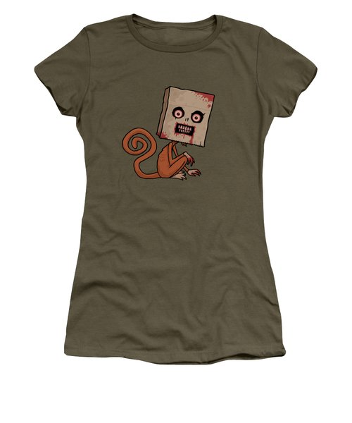 Psycho Sack Monkey Women's T-Shirt (Junior Cut) by John Schwegel
