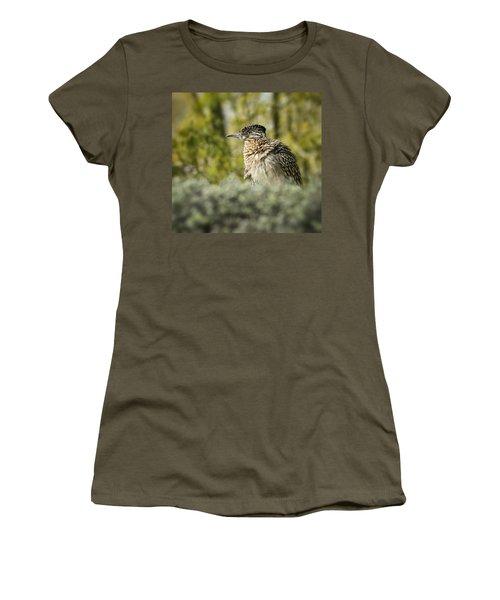 Roadrunner On Guard  Women's T-Shirt (Junior Cut) by Saija  Lehtonen