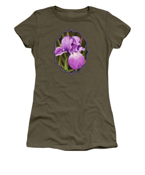 Single Iris Women's T-Shirt (Junior Cut) by Anastasiya Malakhova