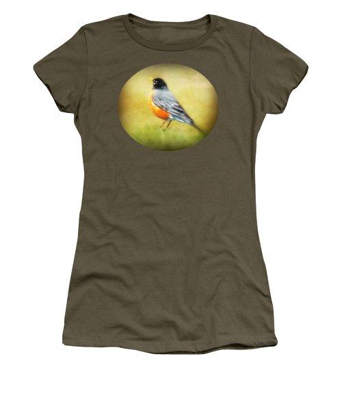 Spring Robin Women's T-Shirt (Junior Cut) by Anita Faye