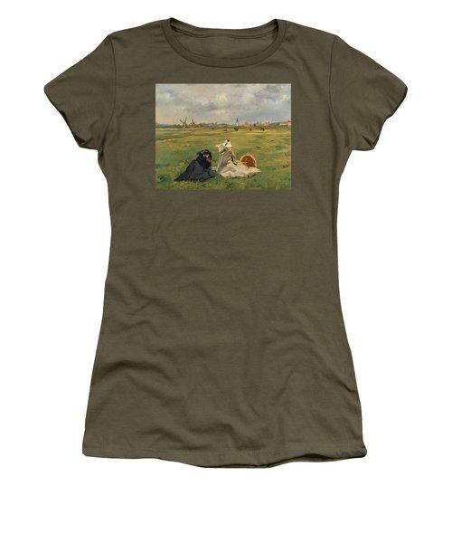 The Swallows Women's T-Shirt (Junior Cut) by Edouard Manet