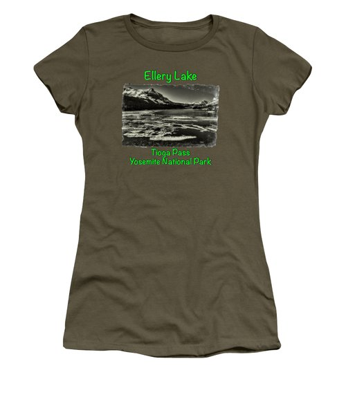 Tioga Pass Lake Ellery Early Summer Women's T-Shirt (Junior Cut) by Roger Passman