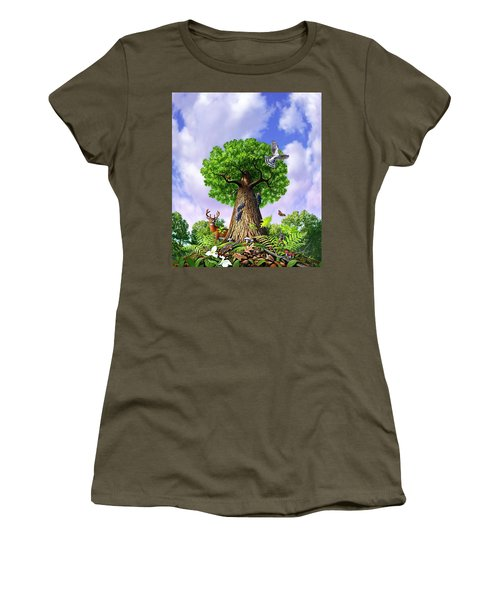 Tree Of Life Women's T-Shirt (Junior Cut) by Jerry LoFaro