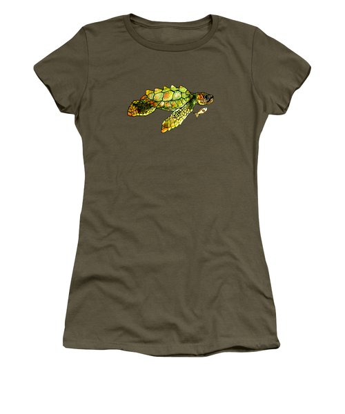 Turtle Talk Women's T-Shirt (Junior Cut) by Candace Ho