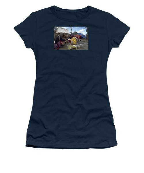 Women's T-Shirt (Junior Cut) featuring the photograph Camping In Iraq by Travel Pics