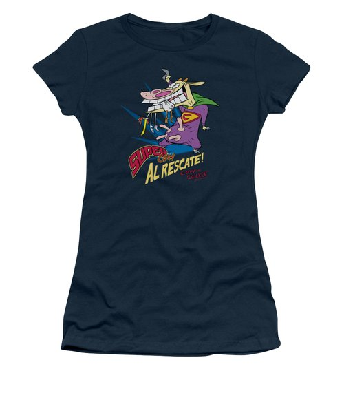 Cow And Chicken - Super Cow Women's T-Shirt (Junior Cut) by Brand A