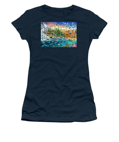 Endangered Species Women's T-Shirt (Junior Cut) by Adrian Chesterman