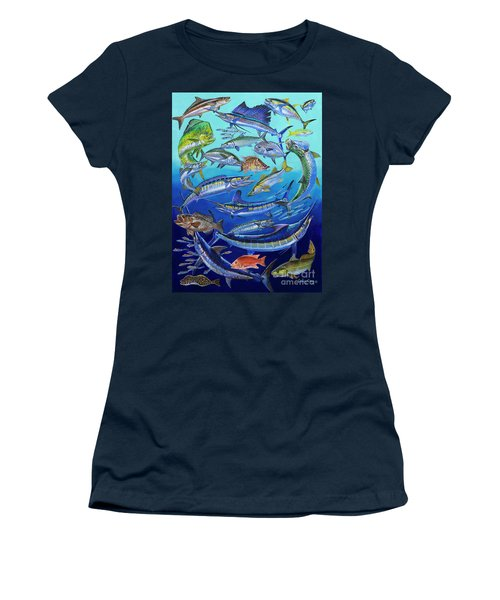 Gamefish Collage In0031 Women's T-Shirt (Junior Cut) by Carey Chen