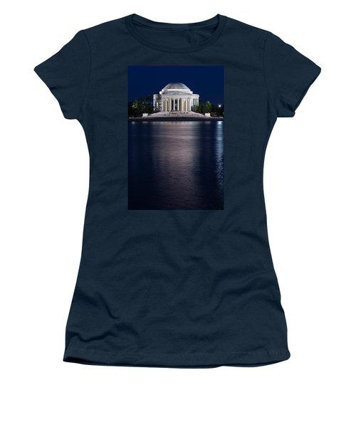 Jefferson Memorial Washington D C Women's T-Shirt (Junior Cut) by Steve Gadomski