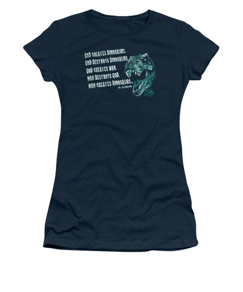 Jurassic Park - God Creates Dinosaurs Women's T-Shirt (Junior Cut) by Brand A
