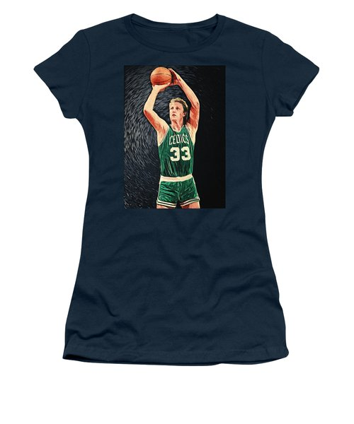 Larry Bird Women's T-Shirt (Junior Cut) by Taylan Soyturk