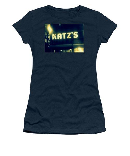 Nyc's Famous Katz's Deli Women's T-Shirt (Junior Cut) by Paulo Guimaraes