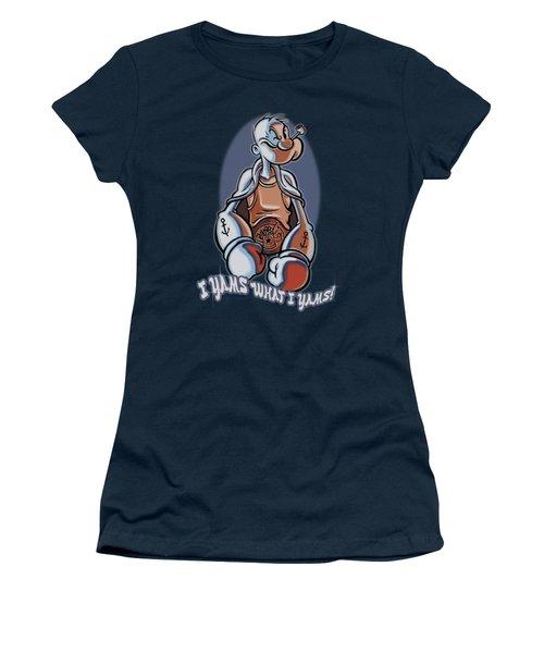 Popeye - I Yams Women's T-Shirt (Junior Cut) by Brand A