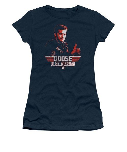 Top Gun - Wingman Goose Women's T-Shirt (Junior Cut) by Brand A