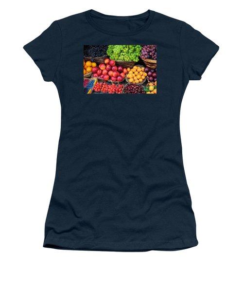Tuscan Fruit Women's T-Shirt (Junior Cut) by Inge Johnsson