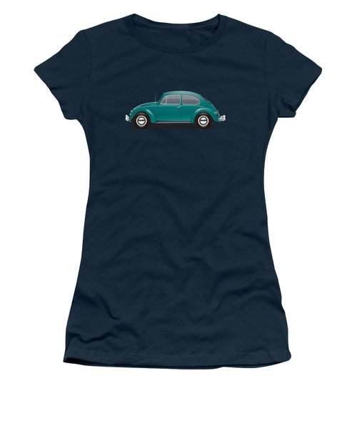 1967 Volkswagen Sedan - Java Green Women's T-Shirt (Junior Cut) by Ed Jackson