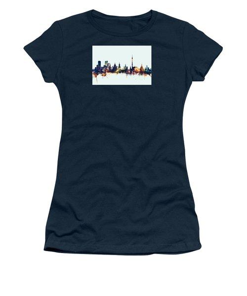 Moscow Russia Skyline Women's T-Shirt (Junior Cut) by Michael Tompsett