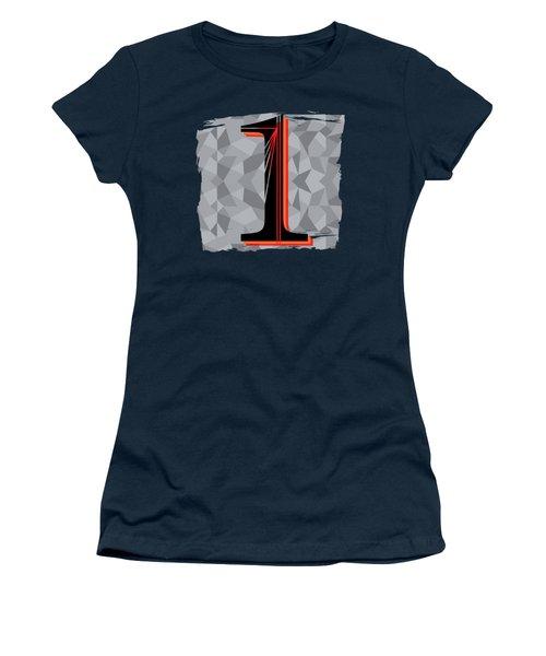 Number 1 One Women's T-Shirt (Junior Cut) by Liesl Marelli